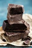 Donkere verpletterde chocolade Royalty-vrije Stock Afbeeldingen
