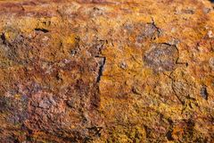 Donkere versleten roestige achtergrond De roest van het Grungeijzer Royalty-vrije Stock Fotografie