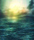 Donkere wateren royalty-vrije illustratie