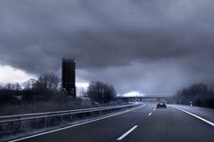 Donkere weg Stock Foto's