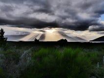 Donkere wolk stock afbeelding
