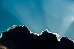 Donkere wolk in hemel royalty-vrije stock fotografie