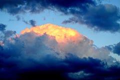 Donkere wolken in de hemel Royalty-vrije Stock Fotografie