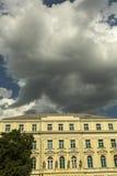 Donkere wolken op de hemel Royalty-vrije Stock Foto