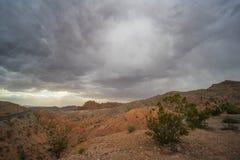 Donkere Wolken over Nevada Desert Royalty-vrije Stock Afbeelding