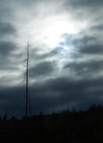 Donkere wolken over platteland Royalty-vrije Stock Foto