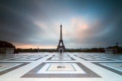Donkere wolken Trocadero Stock Afbeeldingen