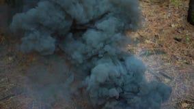 Donkere wolkenrook die langzaam, verontreinigingsgas vliegen stock video