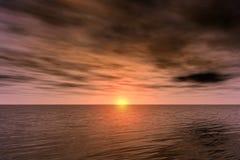 Donkere zonsondergang Stock Foto
