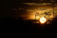 Donkere zonsondergang Stock Fotografie