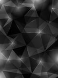 Donkere zwarte abstracte veelhoekige achtergrond Royalty-vrije Stock Foto