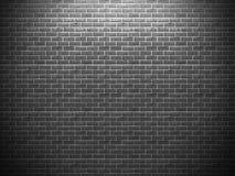 Donkere zwarte bakstenen muur grunge achtergrond Stock Foto's