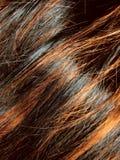 Donkere zwarte de textuurachtergrond van het hoogtepunthaar Stock Afbeeldingen