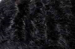 Donkere zwarte haartextuur Royalty-vrije Stock Foto's