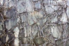 Donkere zwarte mable steentextuur Stock Foto's