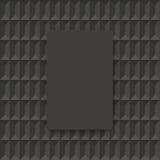Donkergrijze geometrische vectorachtergrond Royalty-vrije Stock Foto