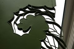 Donkergroen abstract bloempatroon Royalty-vrije Stock Afbeelding