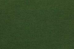 Donkergroene achtergrond van een textielproduct met rieten patroon, close-up Royalty-vrije Stock Afbeeldingen