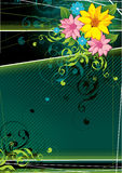 Donkergroene bloemenachtergrond Royalty-vrije Stock Afbeeldingen