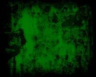 Donkergroene de muurachtergrond van het grunge roestige metaal Stock Foto's