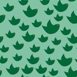 Donkergroene eenvoudige vogels op de lichtgroene achtergrond Royalty-vrije Stock Fotografie