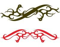 Donkergroene en Rode tatoegering stock illustratie