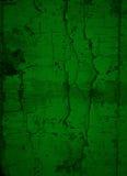 Donkergroene Gebarsten Verfachtergrond Stock Fotografie