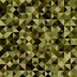Donkergroene het mozaïekachtergrond van de kleurendriehoek Royalty-vrije Stock Foto's