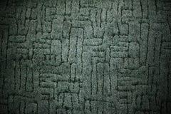 Donkergroene het patroonachtergrond van de tapijtstof Stock Foto