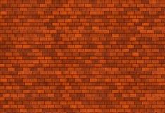 Donkerrode bakstenen muur stock illustratie