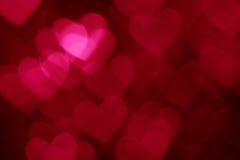 Donkerrode de vakantieachtergrond van de hartvorm Royalty-vrije Stock Foto