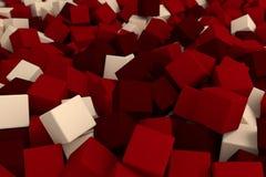Donkerrode kubussen Royalty-vrije Stock Afbeeldingen