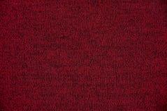 Donkerrode textuur van het stuk van de woldoek van doek Stock Afbeeldingen