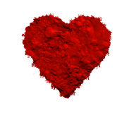Donkerrood geweven hart Stock Fotografie
