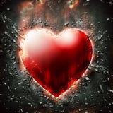 Donkerrood hart Royalty-vrije Stock Afbeeldingen
