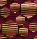 Donkerrood kleuren decoratief naadloos patroon Stock Foto's