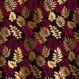 Donkerrood kleuren decoratief naadloos patroon Royalty-vrije Stock Foto
