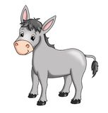 Donkey. Colored illustration of a smiling donkey Stock Image