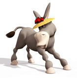 Donkey. Digital animal for your artistic creations and/or projects Stock Photography