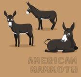 Donkey American Mammoth Cartoon Vector Illustration. Animal Cartoon EPS10 File Format Royalty Free Stock Photo