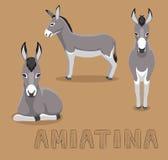 Donkey Amiatina Cartoon Vector Illustration. Animal Cartoon EPS10 File Format Stock Photography