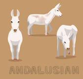 Donkey Andalusian Cartoon Vector Illustration. Animal Cartoon EPS10 File Format Royalty Free Stock Photo