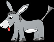 Donkey, Animal, Farm, Gray, Comic Royalty Free Stock Images