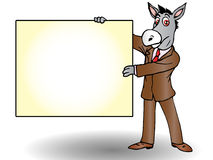 Donkey in business Royalty Free Stock Photography