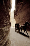 Donkey Carriage in Petra Stock Photos
