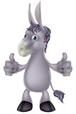 Donkey cartoon. An illustration of a cute cartoon donkey giving a thumbs up gesture Royalty Free Stock Photos