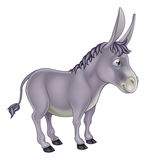 Donkey Cartoon. An illustration of a cute grey cartoon donkey character Stock Photo