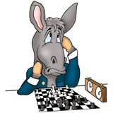 Donkey chessplayer Stock Image