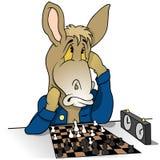 Donkey Chessplayer Royalty Free Stock Photography