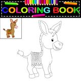 Donkey coloring book. Illustration of donkey coloring book vector illustration